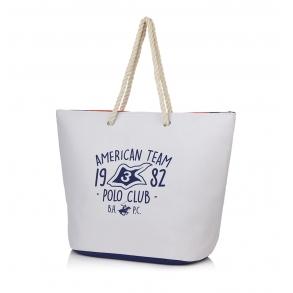 Τσάντα Θαλάσσης BEVERLY HILLS POLO CLUB BH-2501 Λευκό