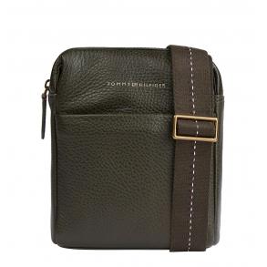 Τσάντα TOMMY HILFIGER 7578 Casual Leather Small Reporter Λαδί
