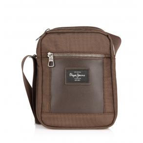 Τσάντα PEPE JEANS Bomber 7645422 Καφέ