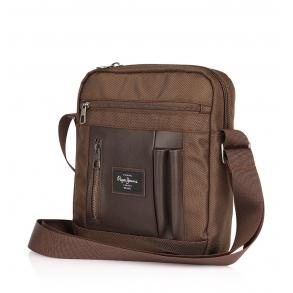 Τσάντα PEPE JEANS Bomber 7645622 Καφέ