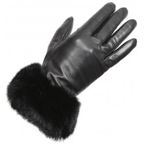 δερμάτινα γάντια ESTET B01 Μαύρο