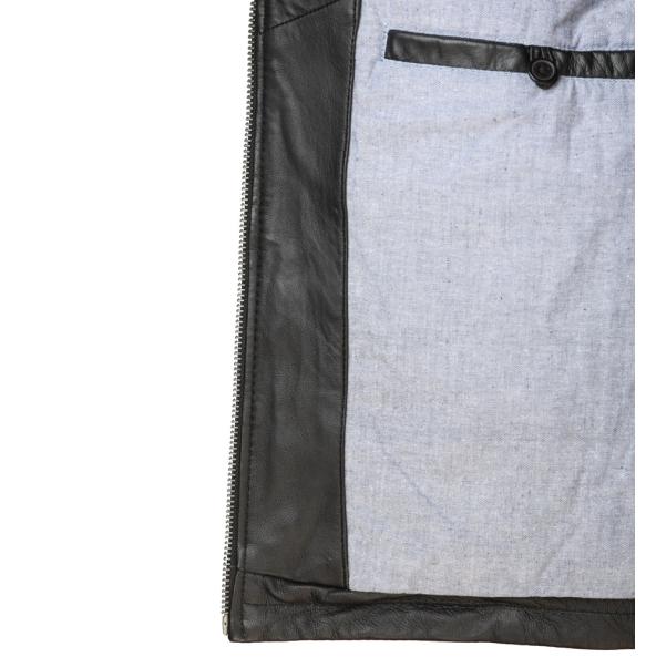 Δερμάτινο μπουφάν DENNIS Μαύρο