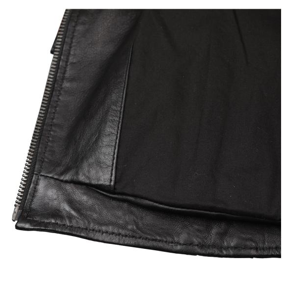 Δερμάτινο μπουφάν EMERY Μαύρο