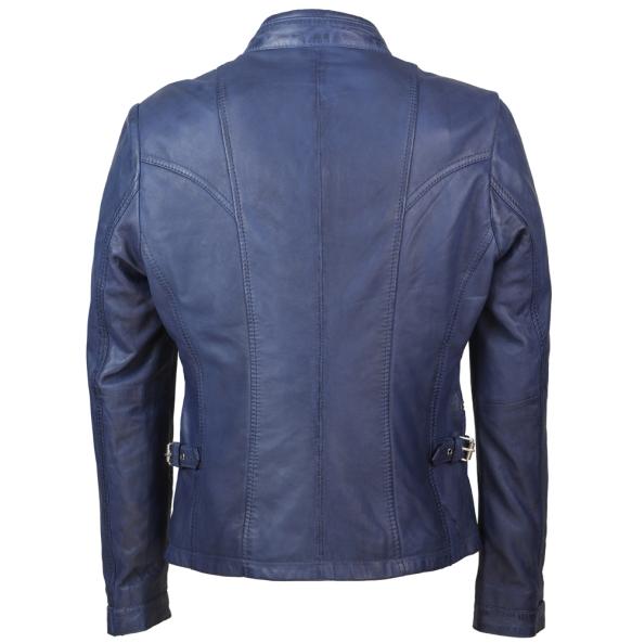 Δερμάτινο μπουφάν FLORA Μπλε