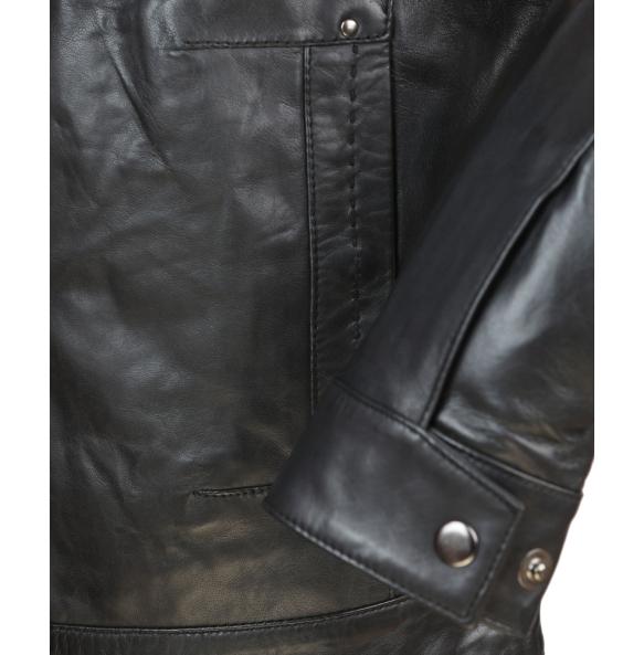 Δερμάτινο μπουφάν HARRY Μαύρο
