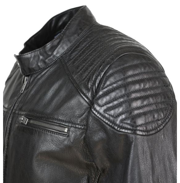 Δερμάτινο μπουφάν MORTON Μαύρο