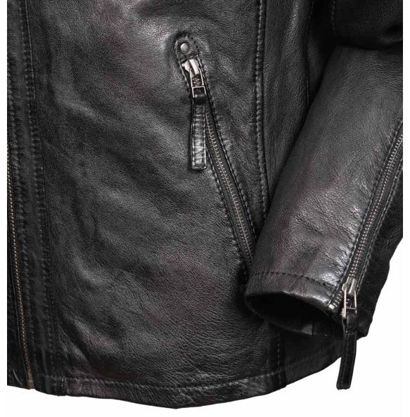 Δερμάτινο μπουφάν RINO Μαύρο