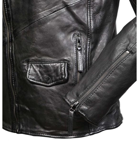 Δερμάτινο μπουφάν STARK Μαύρο