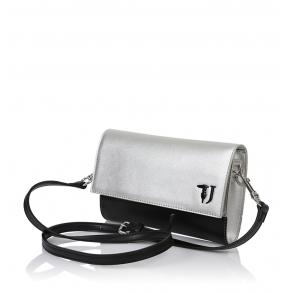 Τσάντα TRUSSARDI JEANS 75B00664 Ασημί