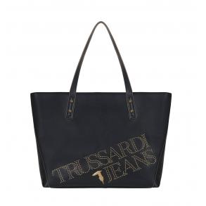 Τσάντα TRUSSARDI JEANS 75B00892 Μαύρο