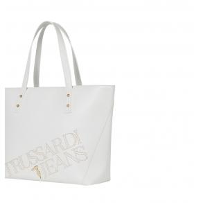 Τσάντα TRUSSARDI JEANS 75B00892 Λευκό