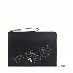 Τσάντα TRUSSARDI JEANS 75B00895 Μαύρο