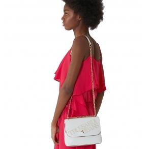 Τσάντα TRUSSARDI JEANS 75B00896 Λευκό