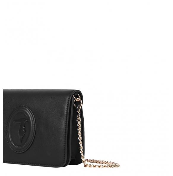 Τσάντα TRUSSARDI 75B01076 Μαύρο