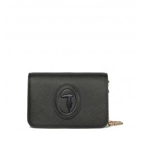 Τσάντα TRUSSARDI 75B01115 Μαύρο