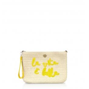 Τσάντα LE PANDORINE PE21DBQ02812 Canella Pochette Κίτρινο