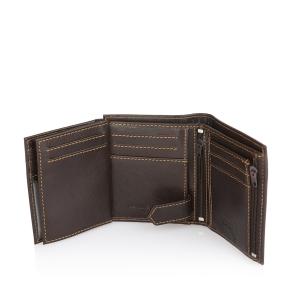 Δερμάτινο πορτοφόλι KAPPA 1191A Καφέ
