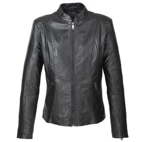 Δερμάτινο μπουφάν 170205 Μαύρο