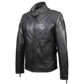 Δερμάτινο μπουφάν SETTE 170208 Μαύρο
