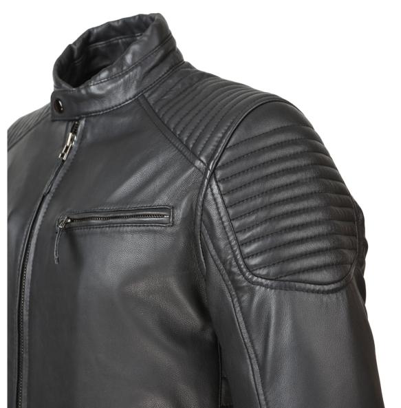 Δερμάτινο μπουφάν SETTE COOPER Μαύρο