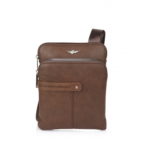 Τσάντα AERONAUTICA MILITARE AM390 Καφέ