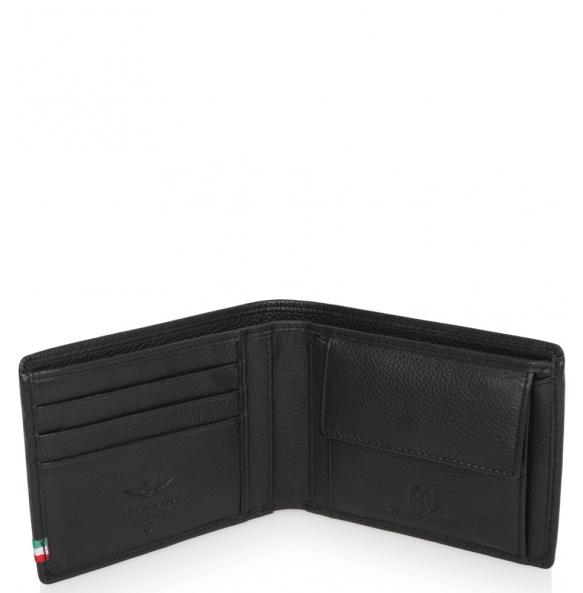 Πορτοφόλι AERONAUTICA MILITARE AM102 Μαύρο