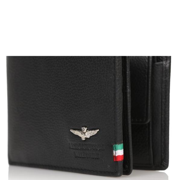 Πορτοφόλι AERONAUTICA MILITARE AM105 Μαύρο