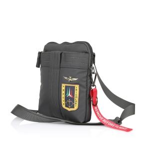 Τσάντα AERONAUTICA MILITARE AM340 Ανθρακί