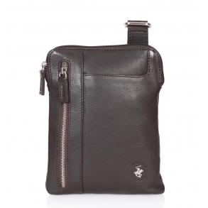 Τσάντα χιαστί POLO BH1160 Καφέ