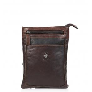 Τσάντα χιαστί POLO BH1333 Καφέ