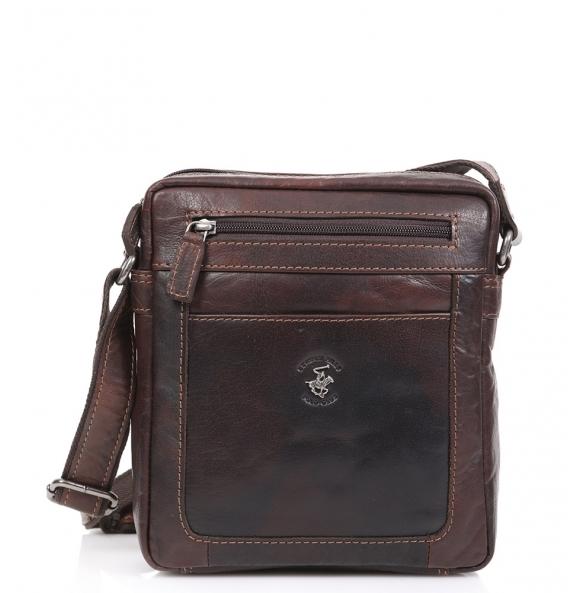 Τσάντα χιαστί POLO BH1335 Καφέ