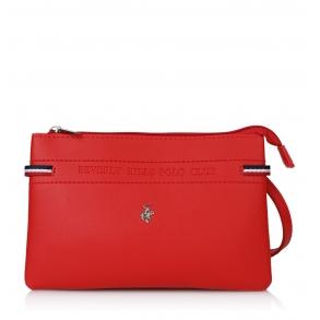 Τσάντα BEVERLY HILLS POLO CLUB BH-2135 Κόκκινο