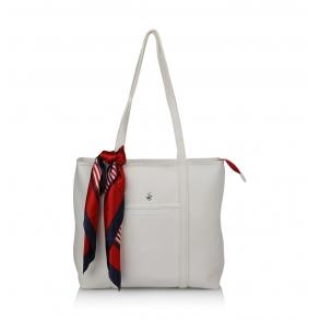 Τσάντα BEVERLY HILLS POLO CLUB BH2410 Λευκό