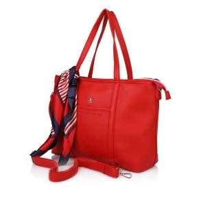 Τσάντα BEVERLY HILLS POLO CLUB BH2411 Κόκκινο