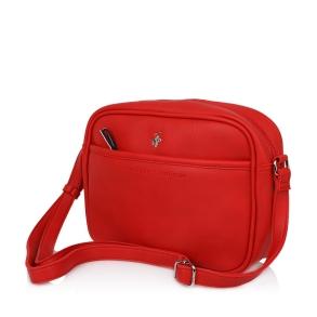 Τσάντα BEVERLY HILLS POLO CLUB BH2415 Κόκκινο