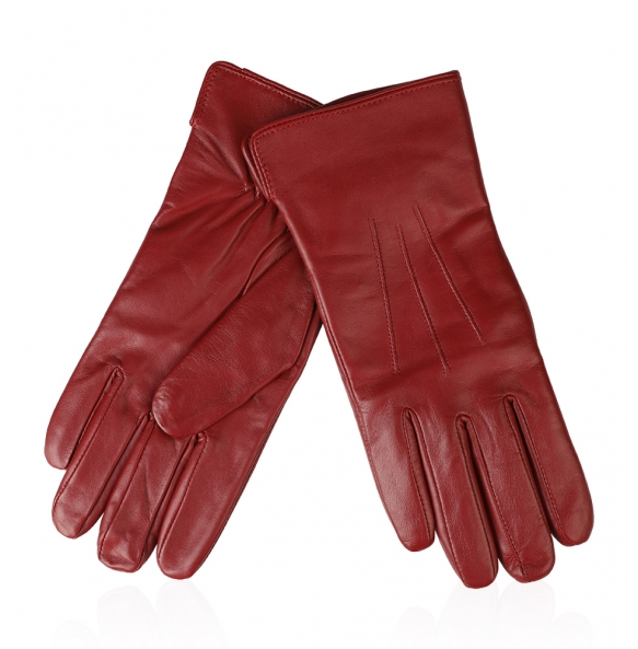 Δερμάτινα γάντια Guy Laroche 98861 Κόκκινο