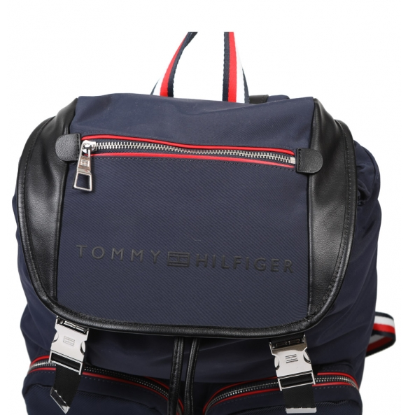 Σακίδιο TOMMY HILFIGER 4246 Urban Novelty Flap Backpack Μπλε