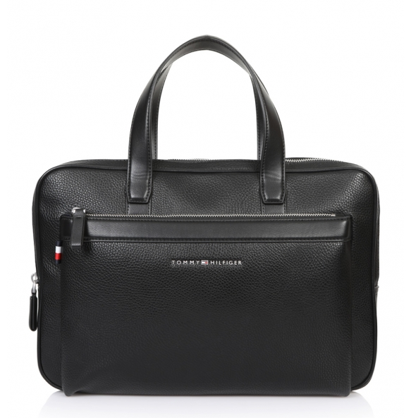 Τσάντα TOMMY HILFIGER 4623 TH Downtown Slim Computer bag Μαύρη