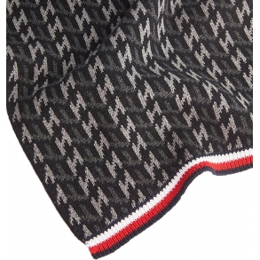 Κασκόλ TOMMY HILFIGER 5175 Monogram Knit Γκρι