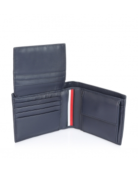 Πορτοφόλι TOMMY HILFIGER 5666 Leather Stripe Μπλε