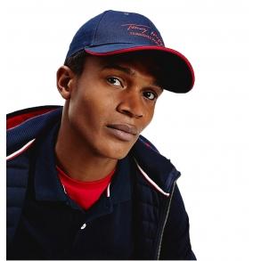 Καπέλο TOMMY HILFIGER 6281 TH Signature Cap Μπλε