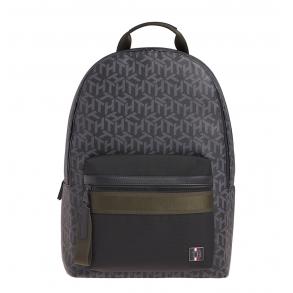 Σακίδιο TOMMY HILFIGER 6466 Coated Canvas Backpack Μαύρο