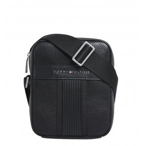 Τσάντα TOMMY HILFIGER 6483 TH Downtown Mini Reporter Μαύρο