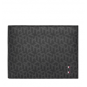 Πορτοφόλι TOMMY HILFIGER 6528 TH Monogram Μαύρο