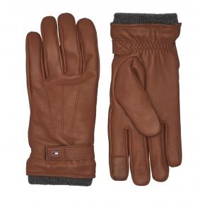 Δερμάτινα γάντια TOMMY HILFIGER 6589 Ταμπά