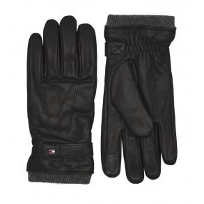 Δερμάτινα γάντια TOMMY HILFIGER 6589 Μαύρο