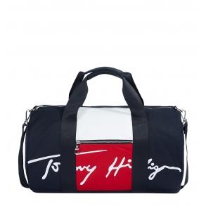 Τσάντα Weekender TOMMY HILFIGER 7380 TH Signature Duffle Μπλε