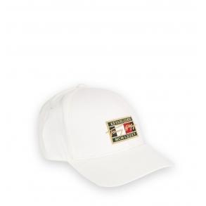Καπέλο TOMMY HILFIGER 7387 TH Patch Signature Λευκό