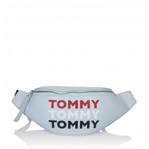 Τσάντα Μέσης TOMMY JEANS Repeat Logo Bumbag Γαλάζιο