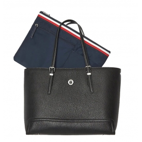 Τσάντα TOMMY HILFIGER 7294 Honey Med Tote Μαύρη